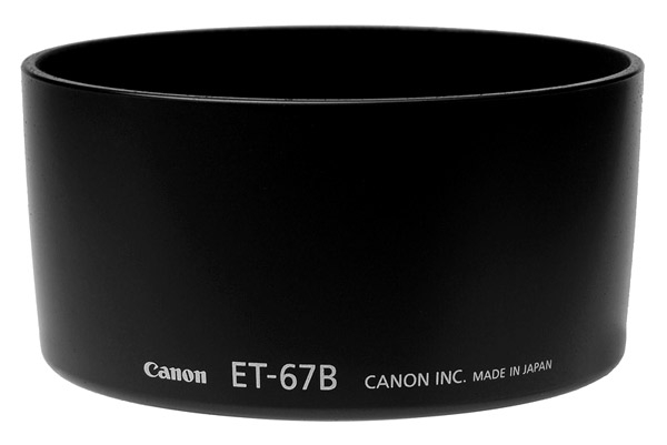Бленда Canon ET-67B, EF-S 60 mm 2.8 macro USM