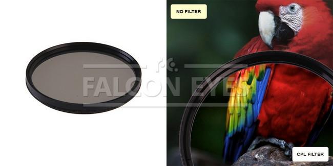 Поляризационный циркулярный фильтр для объектива CPL 49 mm