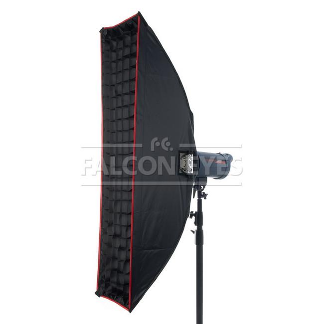 Софтбокс Falcon Eyes SBQ-30120 BW жаропрочный с сотовой насадкой, 30х120 см