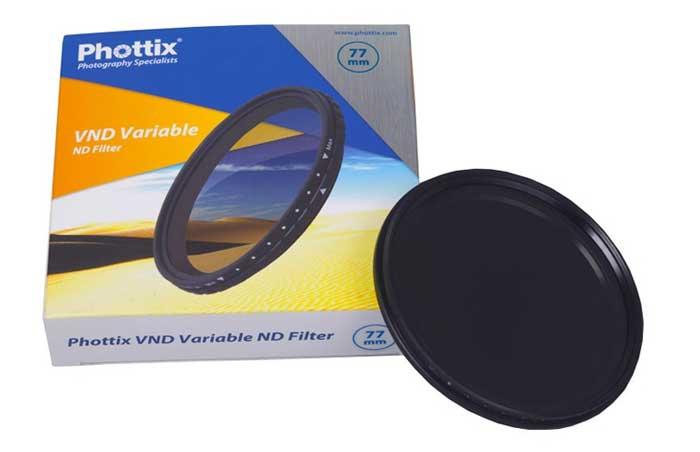 Фильтр Phottix VND Variable Filter 55 mm нейтрально серый, регулируемый