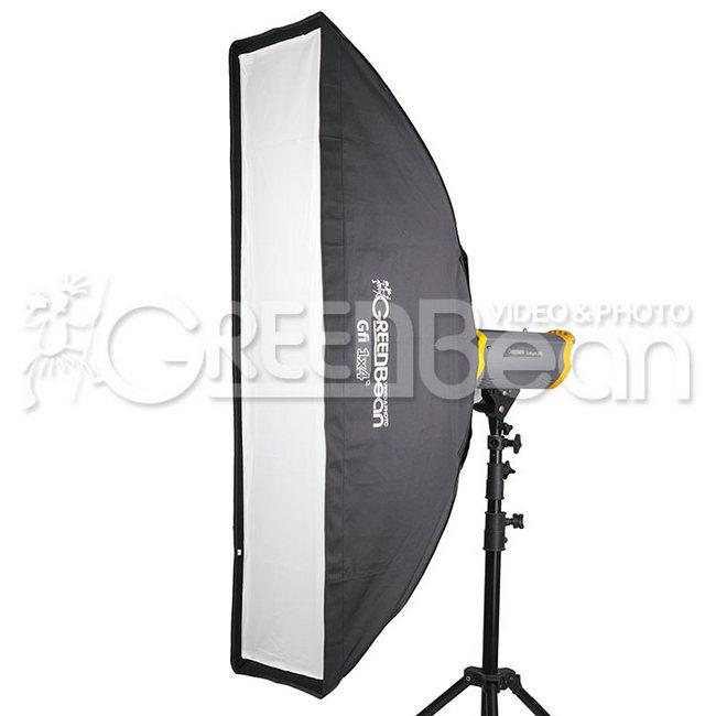 Софтбокс GreenBean GB Gfi 1x4`, 30 x 120 см