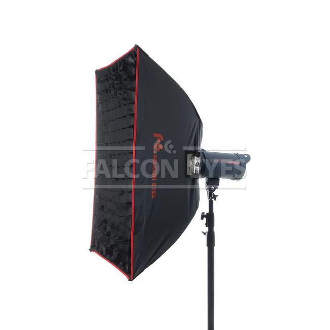 Софтбокс Falcon Eyes SBQ-80120 BW жаропрочный с сотовой насадкой, 80х120 см